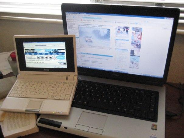 ASUS eePC 700 vs klassisches Laptop