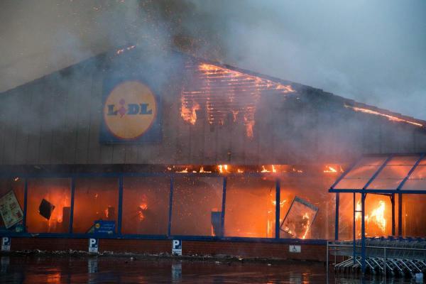 Brand in einer NRW Lidl Filiale