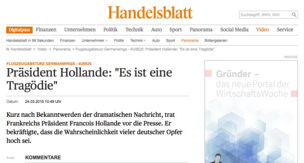 Handelsblatt Screenshot