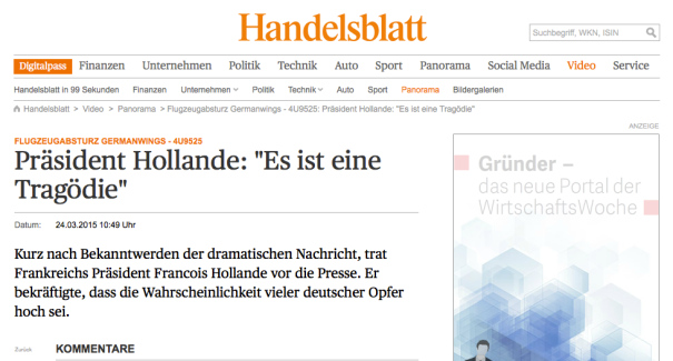 Handelsblatt Screenshot