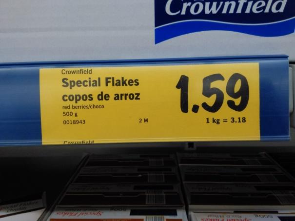 Einheitspreis für alle Crownfields Flakes