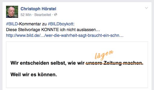FB Eintrag Christoph Hörstel