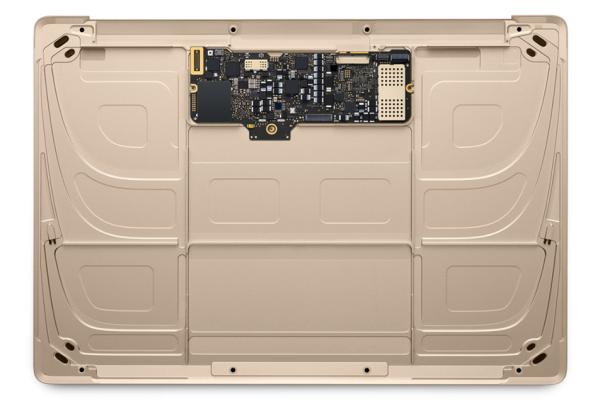 Ein Blick in das Innere des neuenMacBook