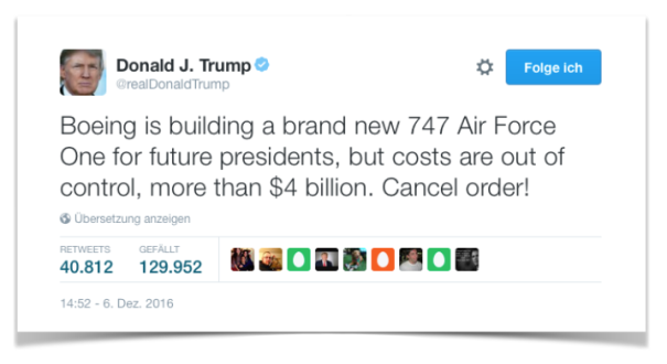 Donald Trump Air Force One Boeing