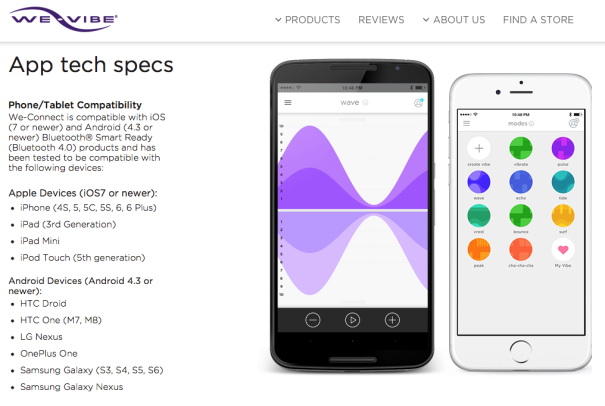 Der VERNETZTE Vibrator (ScreenShot Webseite des Herstellers)