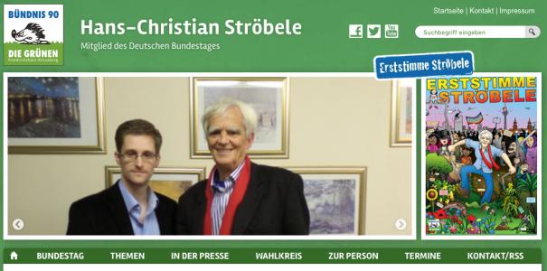 ScreenShot vom 04.04.2017 der Webseite von MdB Ströbele
