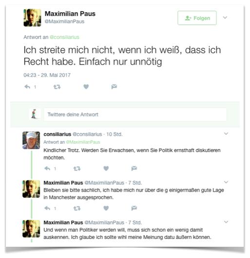Maximilian Paus streitet nicht