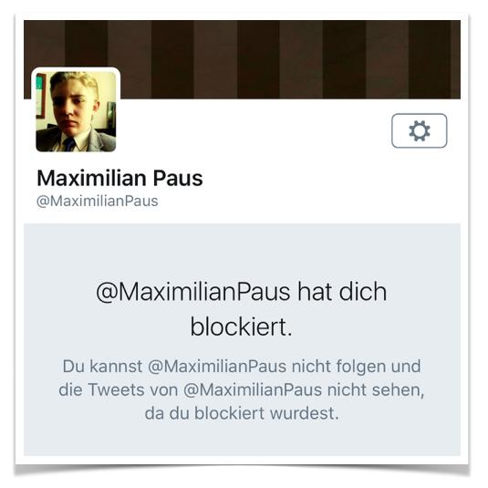 Maximilian Paus Blockade