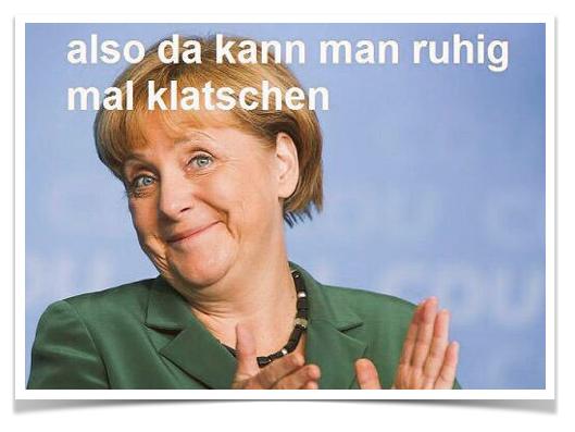 Angela Merkel - Klatschen