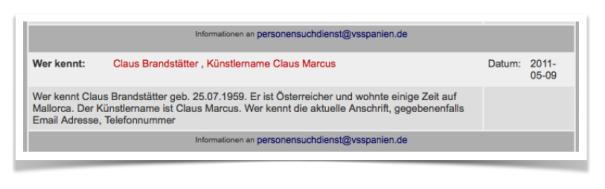 Suchanzeige Klaus Brandtstätter
