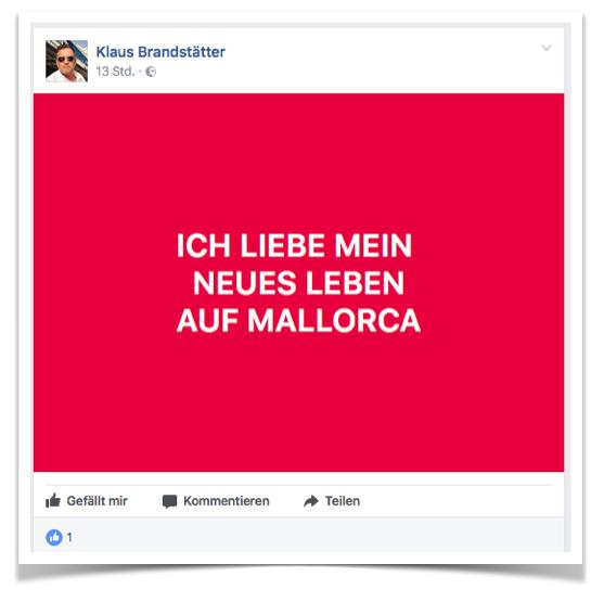 Aktueller Post auf Facebook