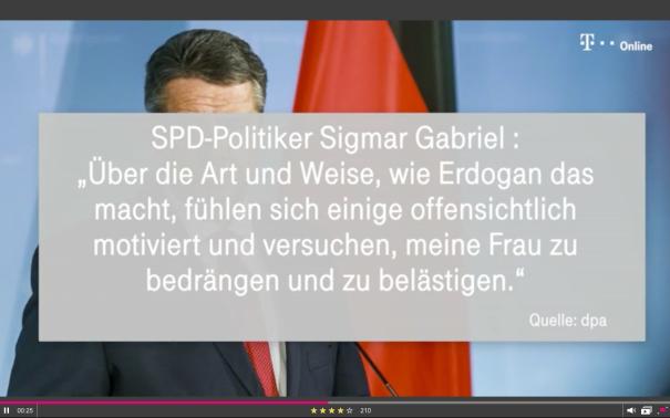 Sigmar Gabriel Aussage