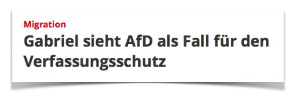 Sigmar Gabriel zur AfD