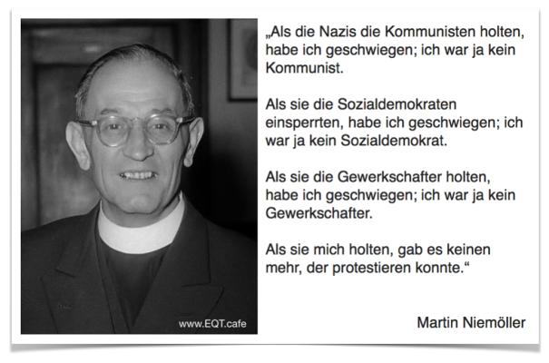 Martin Niemöller Zitat Schatten
