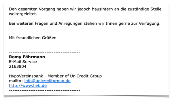 Mail HypoVereinsbank