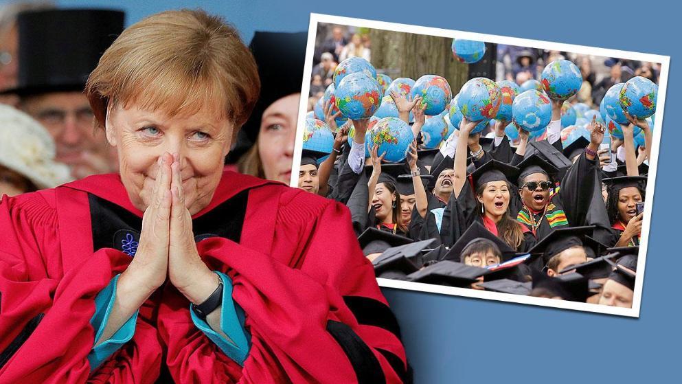 Merkel in Harvard